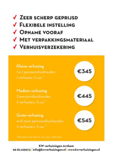 goedkoop verhuizen in Arnhem